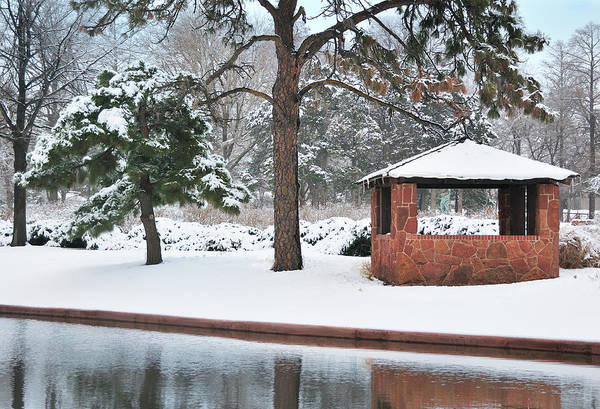 Landscape Art Print featuring the digital art Reflections Of Winter by Betty LaRue