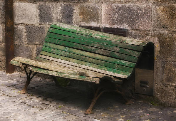 Bench Art Print featuring the photograph Respit Past by Lynn Andrews