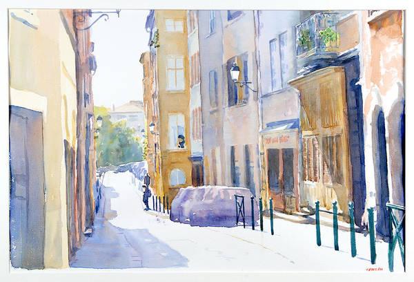 Europ Art Print featuring the painting Rue Saint Georges by Joel Tenzin