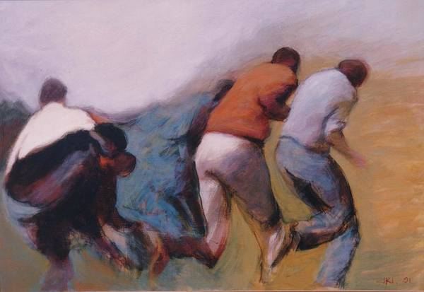 Apartheid Art Print featuring the painting S African Series II by James LeGros