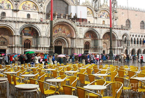 Venice Art Print featuring the photograph San Marco On A Rainy Day by Michael Henderson