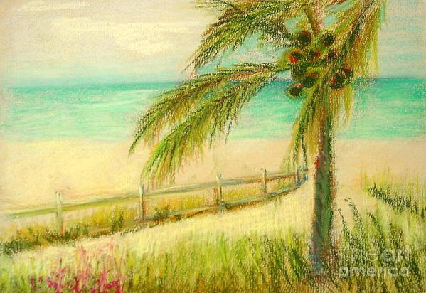 Landscape Art Print featuring the painting Sanibel Breeze      Copyrighted by Kathleen Hoekstra