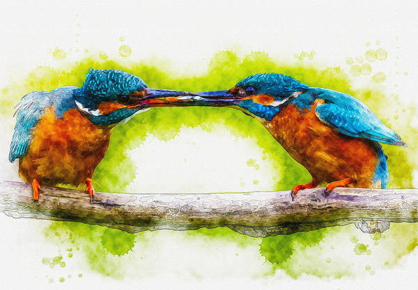 Art & Collectibles Art Print featuring the digital art Sharing by Don Kuing