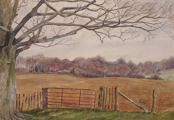 England Art Print featuring the painting Shelter by Debbie Homewood
