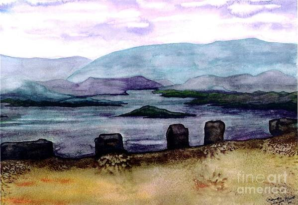 Original Painting Art Print featuring the painting Silent Sentinels by Patricia Griffin Brett
