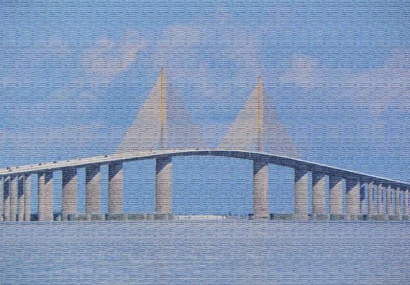 Bridge Art Print featuring the photograph Skyway Bridge by Rosalie Scanlon