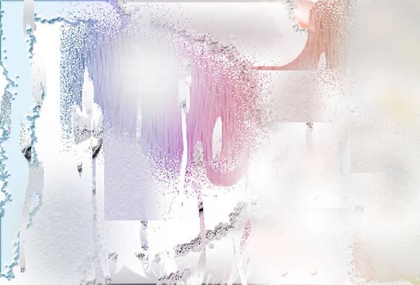 Davina Nicholas Art Print featuring the digital art Snow Dune by Davina Nicholas