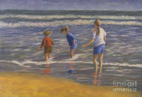 Beach Art Print featuring the painting Song Of Praise by Mary Erbert