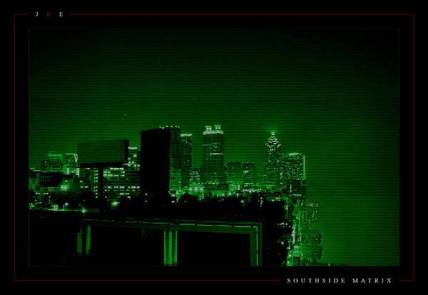 Atlanta Art Print featuring the photograph Southside Matrix by Jonathan Ellis Keys