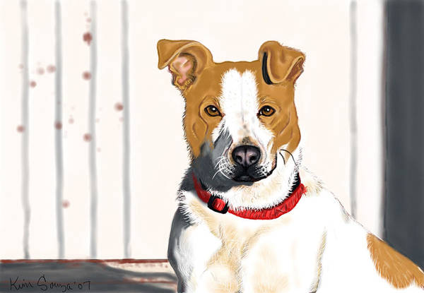 Dogs Art Print featuring the painting Spur by Kim Souza