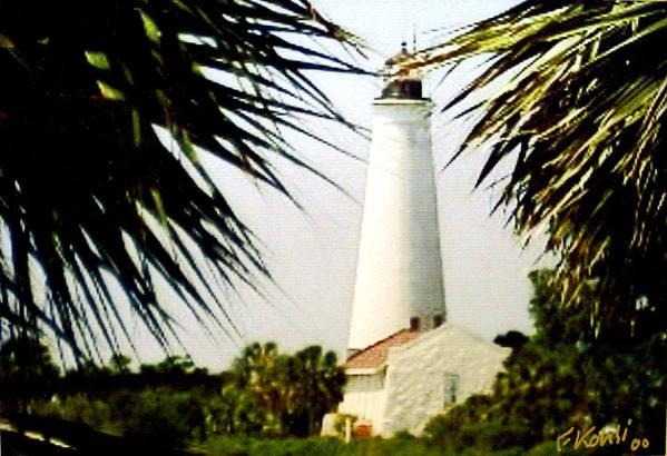 Lighthouse Photographs Art Print featuring the photograph St Marks Lighthouse by Frederic Kohli