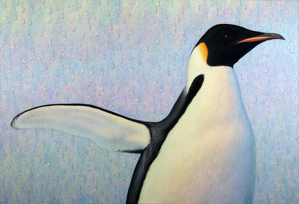 Penguin Art Print featuring the painting Summertime by James W Johnson