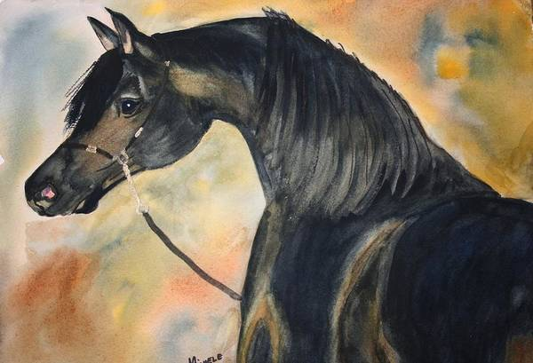 Horses Art Print featuring the painting Sunlit Splendor by Michele Turney