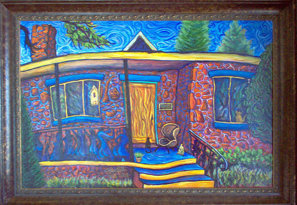Landscape Art Print featuring the painting Susan's House 2 by Steve Lawton
