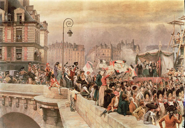 The Art Print featuring the painting The Departure Of The Volunteers 1792 by Jean Baptiste Edouard Detaille