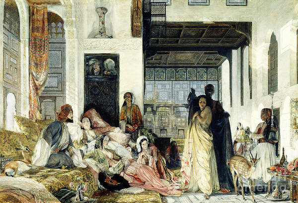 The Print featuring the painting The Harem by John Frederick Lewis