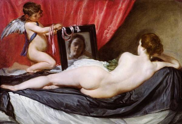 The Print featuring the painting The Rokeby Venus by Diego Rodriguez de Silva y Velazquez