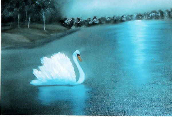 Swan Art Print featuring the painting The Swan by Felix Turner