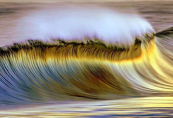 Wave Art Print featuring the photograph The Wave by Zarija Pavikevik
