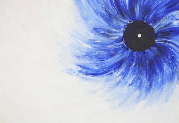 Fine Paintings Art Print featuring the painting Third Eye-ris by Malik Jaffer