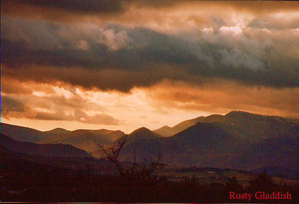 English Landscape Art Print featuring the photograph Thunderhead by Rusty Woodward Gladdish