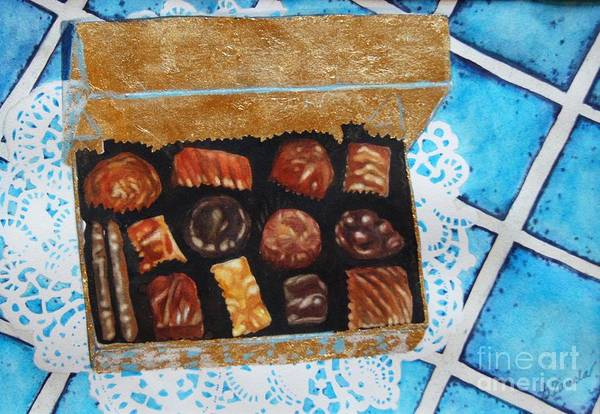 Candy Art Print featuring the painting Treasure Chest by Gail Zavala