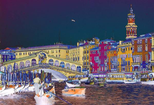 Venice Art Print featuring the photograph Venice Canal by Charles Ridgway