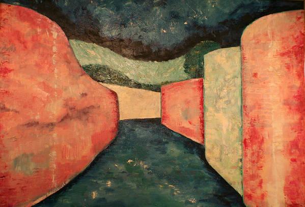 Art Print featuring the painting Via San Leonardo by Biagio Civale