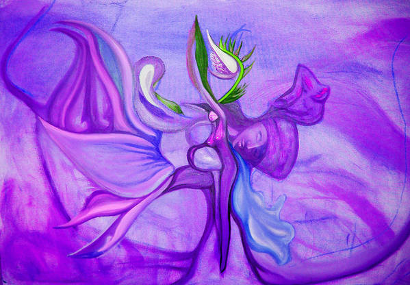 Woman Art Print featuring the painting Virtue Of Women by MandyCka Johnson