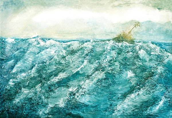 Oil Painting Art Print featuring the painting wave V by Martine Letoile