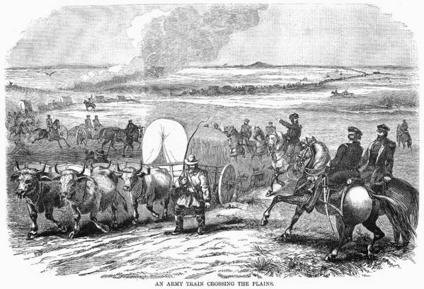 1858 Art Print featuring the photograph Westward Expansion, 1858 by Granger