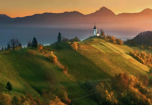 Slovenia Art Print featuring the photograph Autumn Light... by Krzysztof Browko