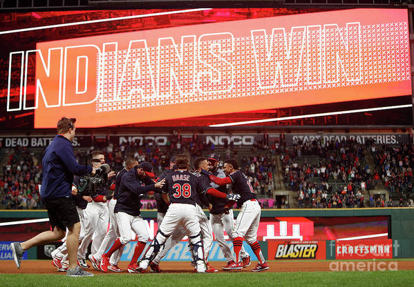 People Art Print featuring the photograph Boston Red Sox V Cleveland Indians 9 by David Maxwell