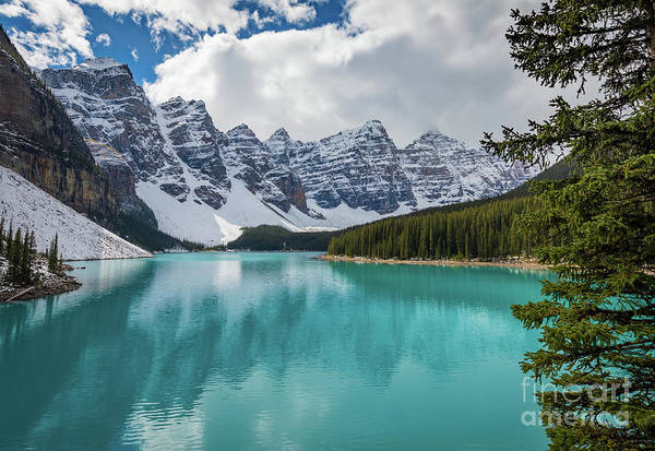 Alberta Art Print featuring the photograph Moraine Lake Range by Inge Johnsson