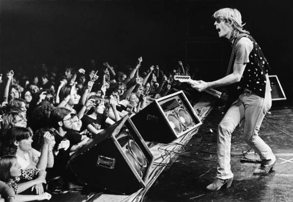 Rock Music Art Print featuring the photograph Rock Singer Tom Petty In Concert by George Rose