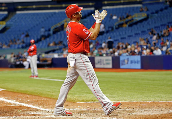 Ninth Inning Art Print featuring the photograph Albert Pujols by Brian Blanco