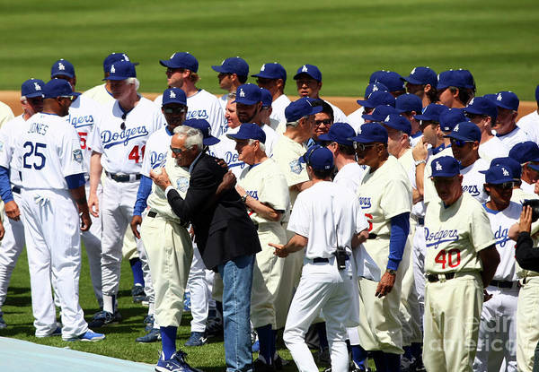 Sandy Koufax Art Print featuring the photograph Sandy Koufax by Icon Sports Wire