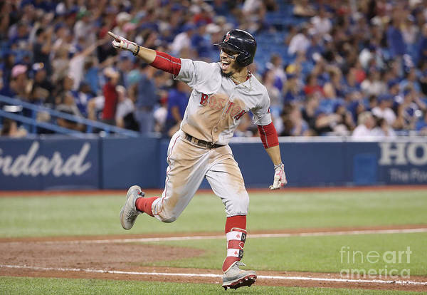 Ninth Inning Art Print featuring the photograph Mookie Betts by Tom Szczerbowski