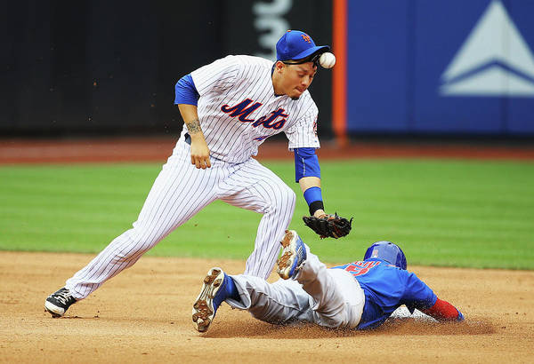 People Art Print featuring the photograph Wilmer Flores And Chris Coghlan by Al Bello