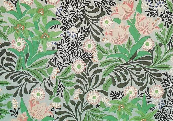 William Print featuring the tapestry - textile Floral Design by William Morris