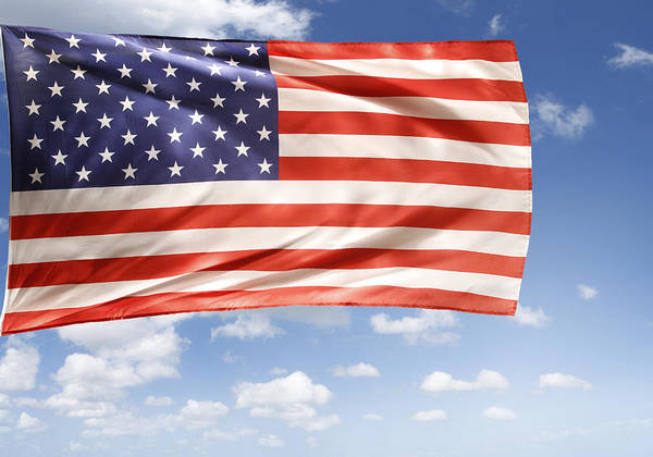 Independence Day Art Print featuring the photograph American Flag by Les Cunliffe