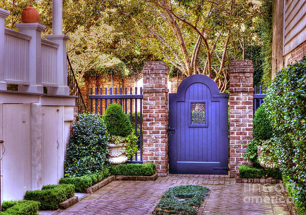 Garden Art Print featuring the photograph A Private Garden In Charleston by Kathy Baccari