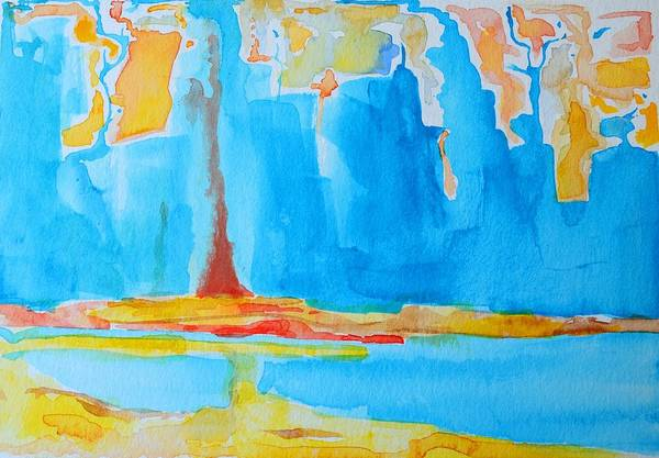 Abstract Watercolor Art Print featuring the painting Abstract II by Patricia Awapara
