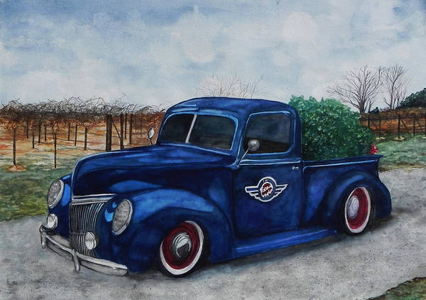 Truck Art Print featuring the painting Baxter Truck by Stacey Pilkington-Smith