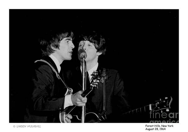 Beatles Art Print featuring the photograph Beatles - 1 by Larry Mulvehill