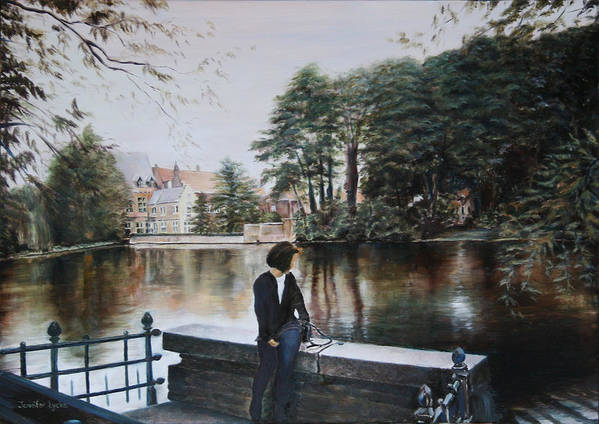 Water Art Print featuring the painting Belgium Reflections In Water by Jennifer Lycke