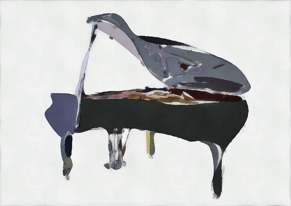 Piano Art Print featuring the digital art Bendy Piano by David Ridley