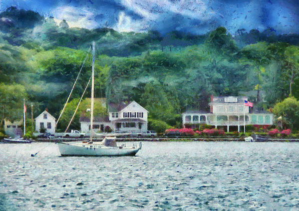 Ship Art Print featuring the photograph Boat - A Good Day To Sail by Mike Savad