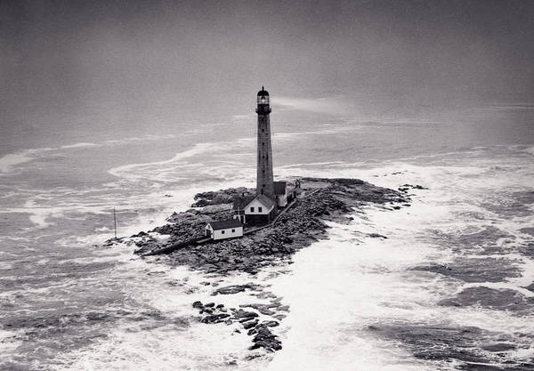 Lighthouse Art Print featuring the photograph Boon Island Light Tower Circa 1950 by Aged Pixel
