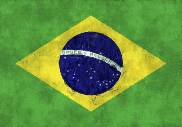 picture about Brazil Flag Printable referred to as Brazil Flag Artwork Print